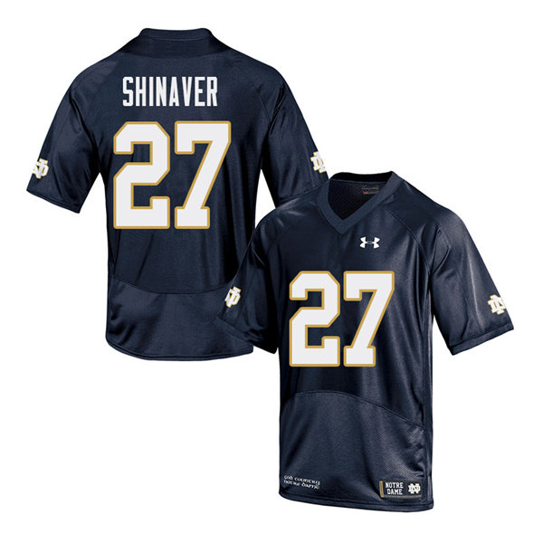Men #27 Arion Shinaver Notre Dame Fighting Irish College Football Jerseys Sale-Navy