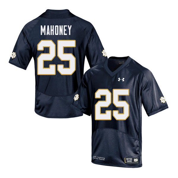 Men #25 John Mahoney Notre Dame Fighting Irish College Football Jerseys Sale-Navy