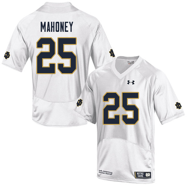 Men #25 John Mahoney Notre Dame Fighting Irish College Football Jerseys Sale-White