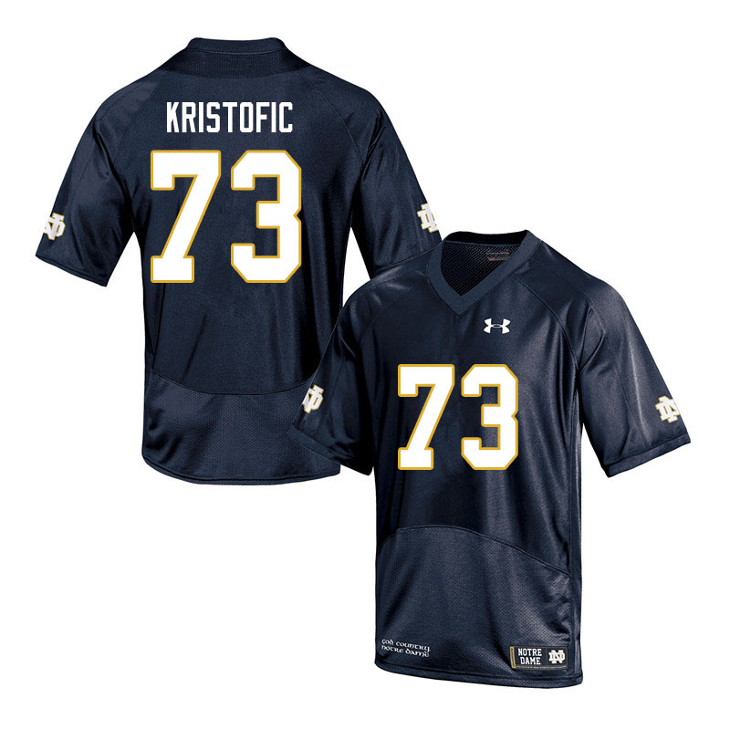 Men #73 Andrew Kristofic Notre Dame Fighting Irish College Football Jerseys Sale-Navy
