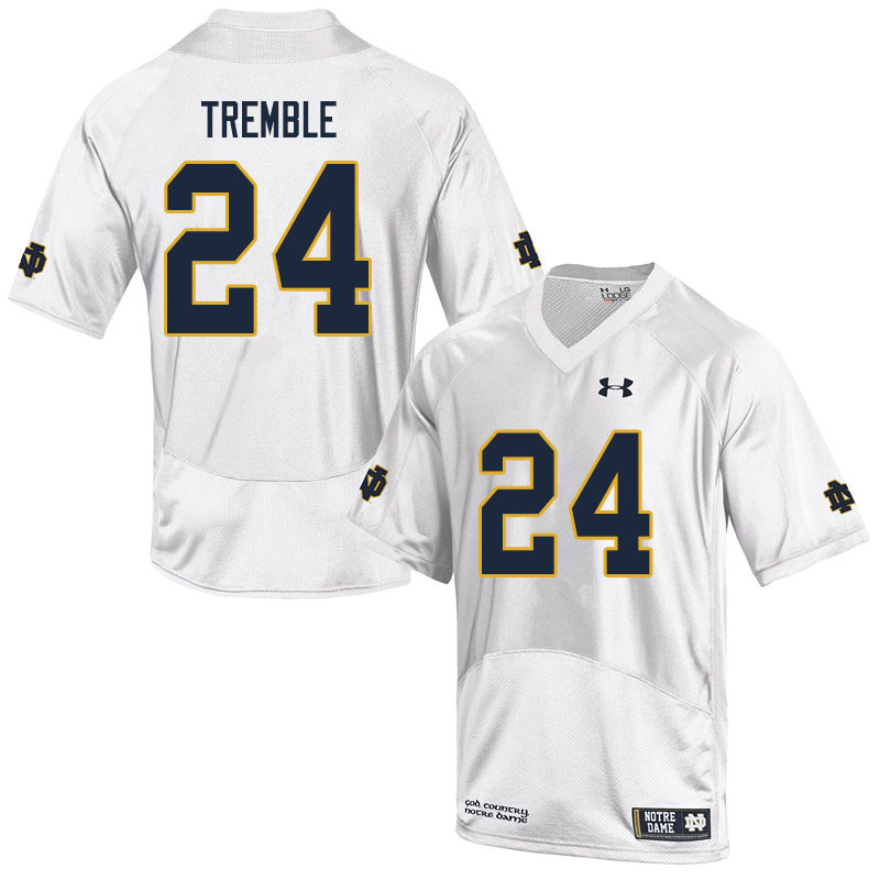 Men #24 Tommy Tremble Notre Dame Fighting Irish College Football Jerseys Sale-White