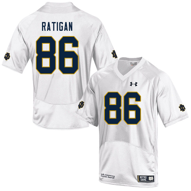 Men #86 Conor Ratigan Notre Dame Fighting Irish College Football Jerseys Sale-White