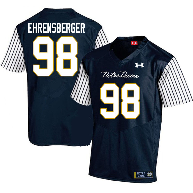 Men #98 Alexander Ehrensberger Notre Dame Fighting Irish College Football Jerseys Sale-Alternate