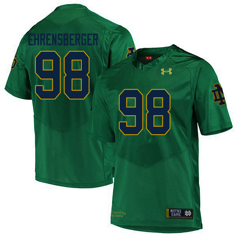Men #98 Alexander Ehrensberger Notre Dame Fighting Irish College Football Jerseys Sale-Green