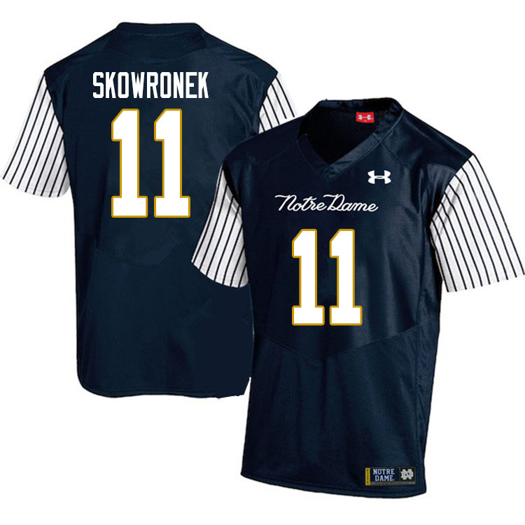 Men #11 Ben Skowronek Notre Dame Fighting Irish College Football Jerseys Sale-Alternate