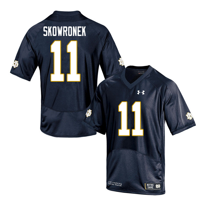 Men #11 Ben Skowronek Notre Dame Fighting Irish College Football Jerseys Sale-Navy