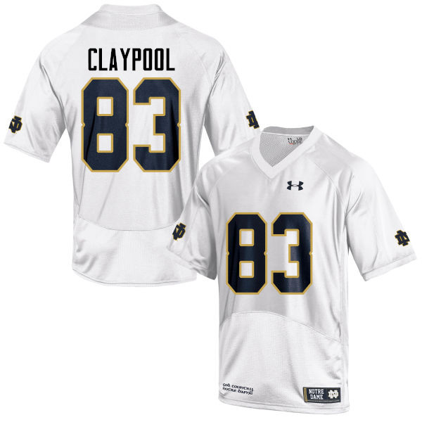 Men #83 Chase Claypool Notre Dame Fighting Irish College Football Jerseys-White
