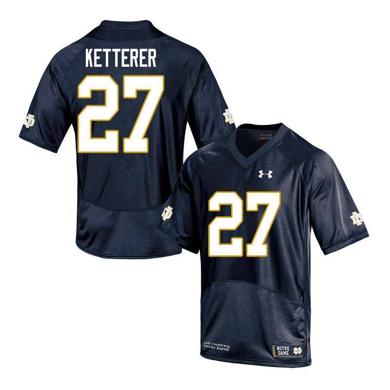 Men #27 Chase Ketterer Notre Dame Fighting Irish College Football Jerseys Sale-Navy