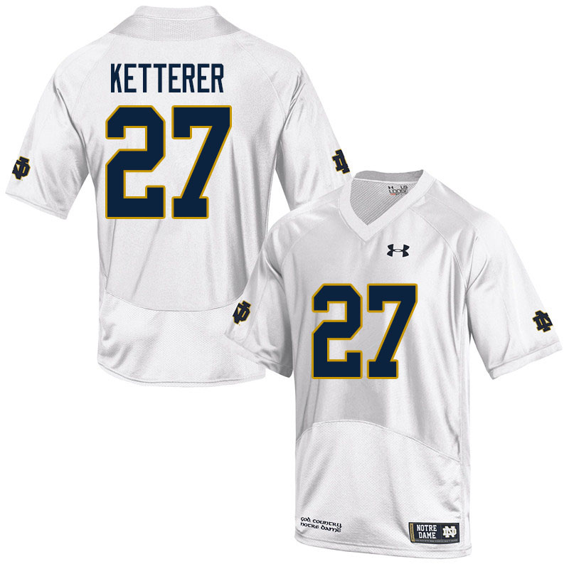 Men #27 Chase Ketterer Notre Dame Fighting Irish College Football Jerseys Sale-White