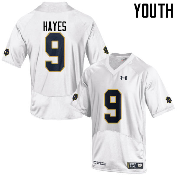 Youth #9 Daelin Hayes Notre Dame Fighting Irish College Football Jerseys-White
