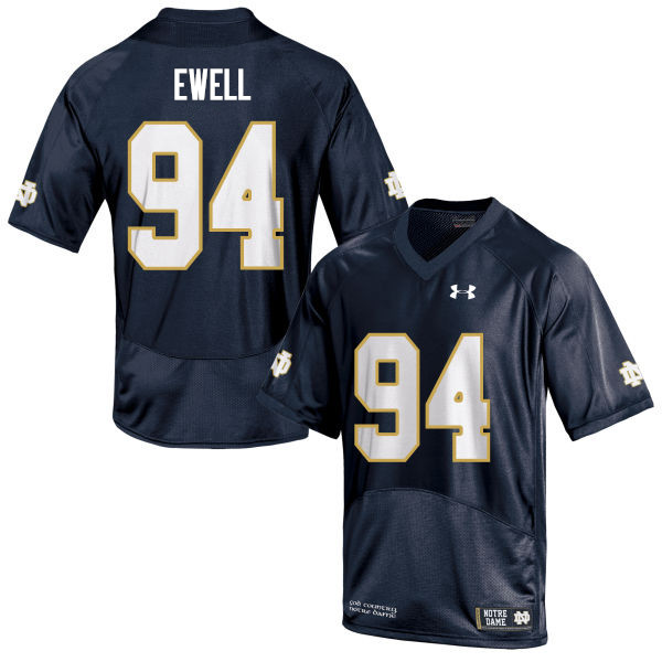 Men #94 Darnell Ewell Notre Dame Fighting Irish College Football Jerseys Sale-Navy