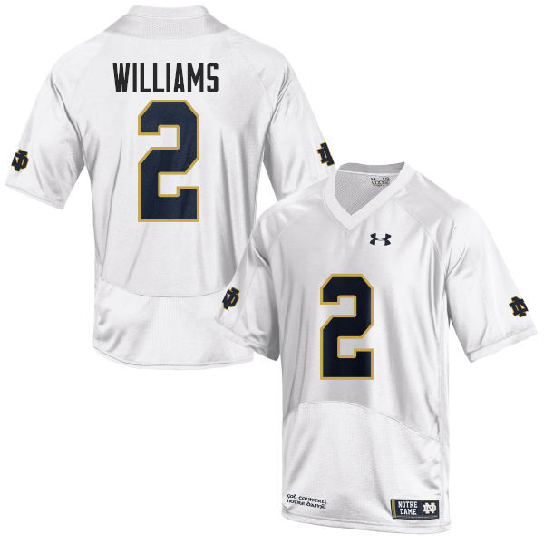 Men #2 Dexter Williams Notre Dame Fighting Irish College Football Jerseys-White