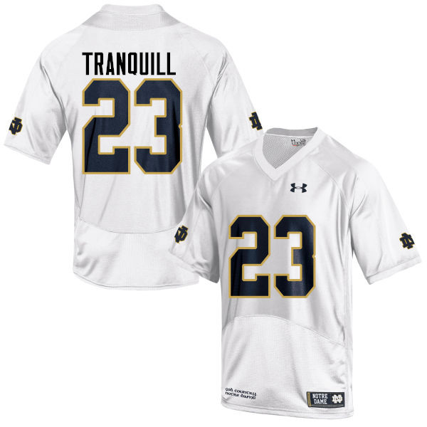 Men #23 Drue Tranquill Notre Dame Fighting Irish College Football Jerseys-White