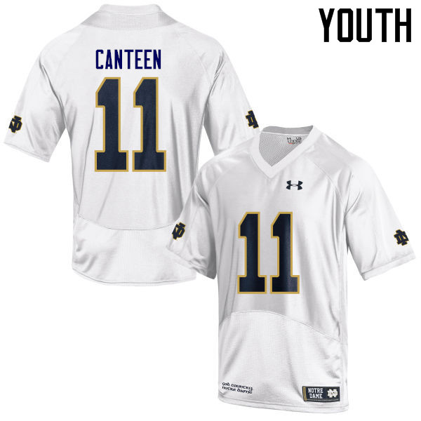 Youth #11 Freddy Canteen Notre Dame Fighting Irish College Football Jerseys Sale-White