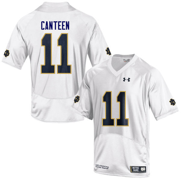 Men #11 Freddy Canteen Notre Dame Fighting Irish College Football Jerseys Sale-White