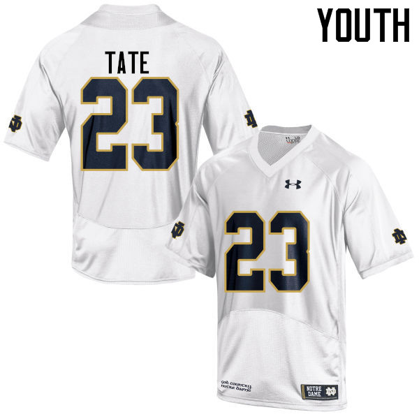 Youth #23 Golden Tate Notre Dame Fighting Irish College Football Jerseys-White