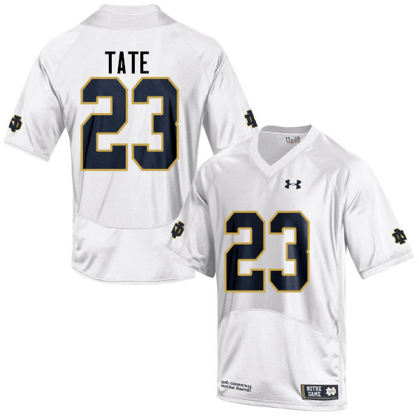 Men #23 Golden Tate Notre Dame Fighting Irish College Football Jerseys-White