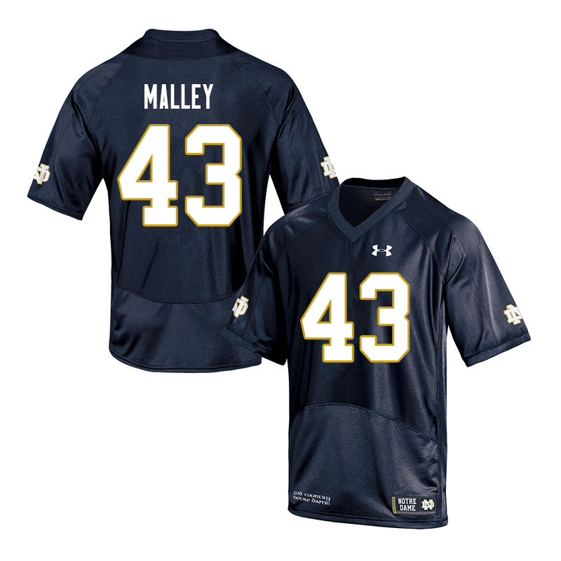 Men #43 Greg Malley Notre Dame Fighting Irish College Football Jerseys Sale-Navy