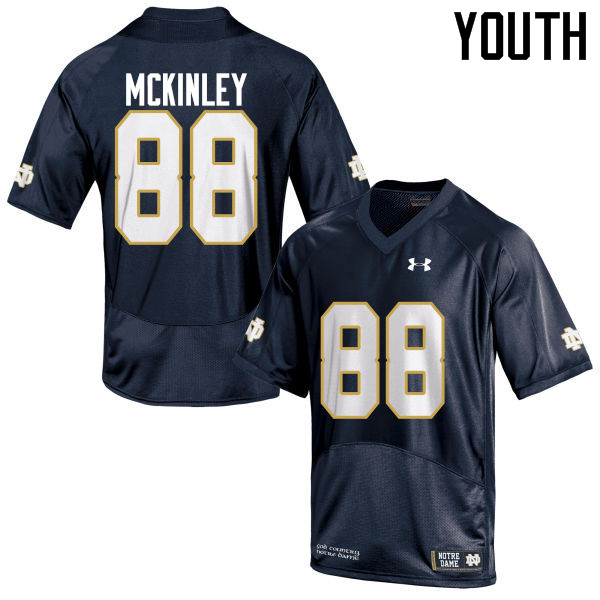 Youth #88 Javon McKinley Notre Dame Fighting Irish College Football Jerseys-Navy Blue