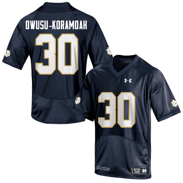 Men #30 Jeremiah Owusu-Koramoah Notre Dame Fighting Irish College Football Jerseys Sale-Navy