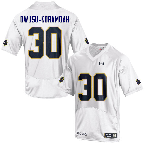 Men #30 Jeremiah Owusu-Koramoah Notre Dame Fighting Irish College Football Jerseys Sale-White