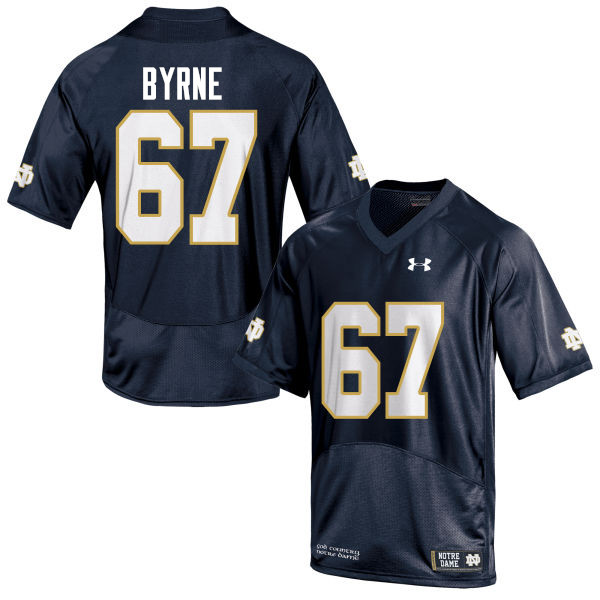 Men #67 Jimmy Byrne Notre Dame Fighting Irish College Football Jerseys-Navy Blue