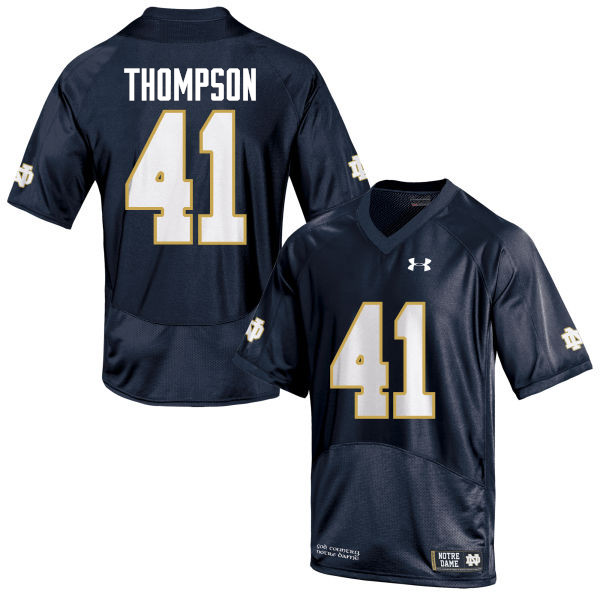 Men #41 Jimmy Thompson Notre Dame Fighting Irish College Football Jerseys-Navy Blue
