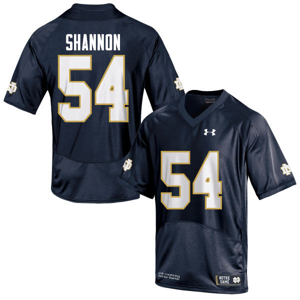 Men #54 John Shannon Notre Dame Fighting Irish College Football Jerseys-Navy Blue