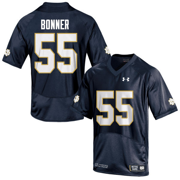 Men #55 Jonathan Bonner Notre Dame Fighting Irish College Football Jerseys-Navy Blue