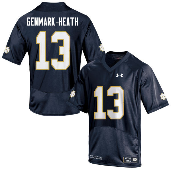 Men #13 Jordan Genmark-Heath Notre Dame Fighting Irish College Football Jerseys Sale-Navy