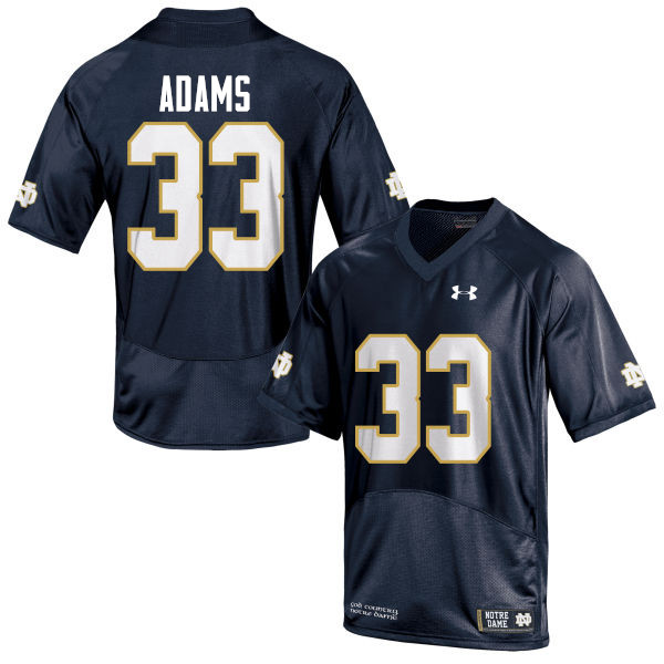 Men #33 Josh Adams Notre Dame Fighting Irish College Football Jerseys-Navy Blue