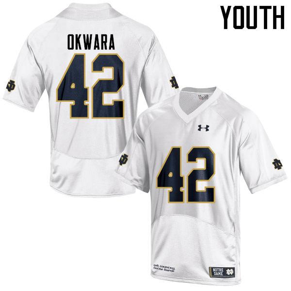 1000ac11b Youth  42 Julian Okwara Notre Dame Fighting Irish College Football Jerseys- White