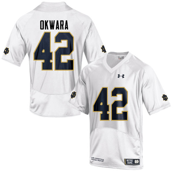 Men #42 Julian Okwara Notre Dame Fighting Irish College Football Jerseys-White