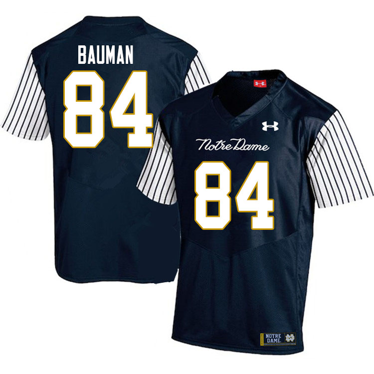 Men #84 Kevin Bauman Notre Dame Fighting Irish College Football Jerseys Sale-Alternate