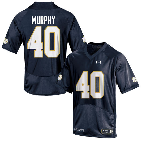 Men #40 Kier Murphy Notre Dame Fighting Irish College Football Jerseys-Navy Blue