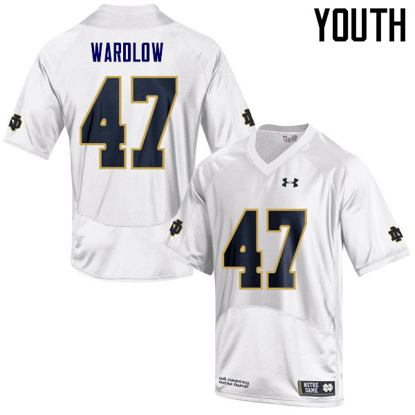 Youth #47 Kofi Wardlow Notre Dame Fighting Irish College Football Jerseys Sale-White