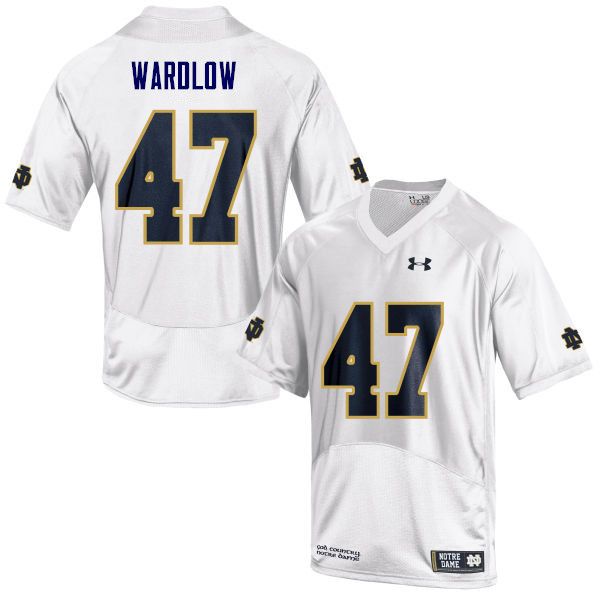 Men #47 Kofi Wardlow Notre Dame Fighting Irish College Football Jerseys Sale-White