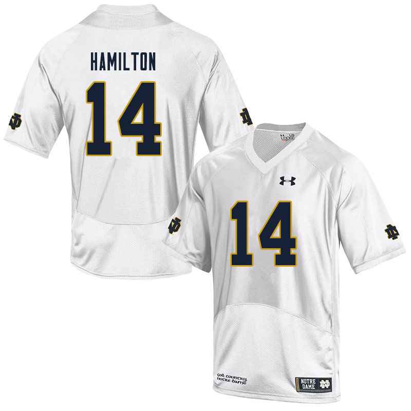 Men #14 Kyle Hamilton Notre Dame Fighting Irish College Football Jerseys Sale-White