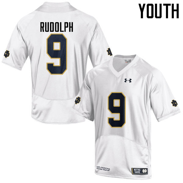 Youth #9 Kyle Rudolph Notre Dame Fighting Irish College Football Jerseys-White