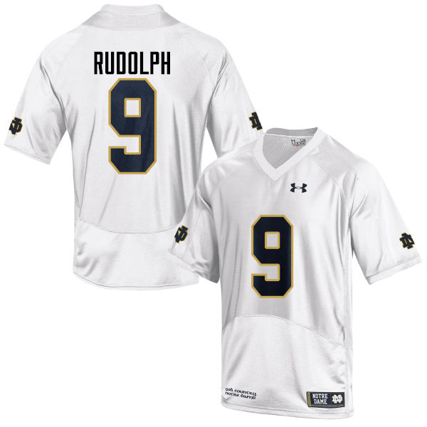 Men #9 Kyle Rudolph Notre Dame Fighting Irish College Football Jerseys-White