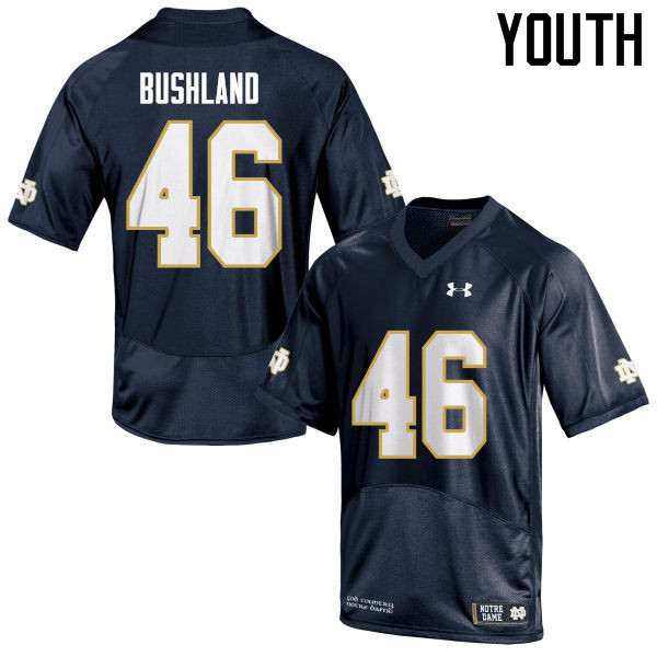 Youth #46 Matt Bushland Notre Dame Fighting Irish College Football Jerseys Sale-Navy