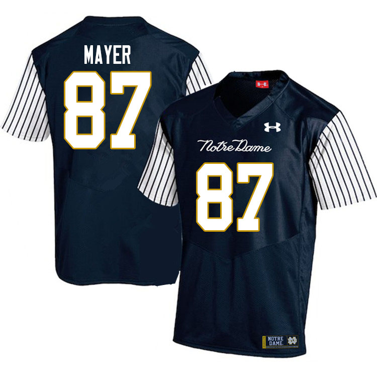 Men #87 Michael Mayer Notre Dame Fighting Irish College Football Jerseys Sale-Alternate