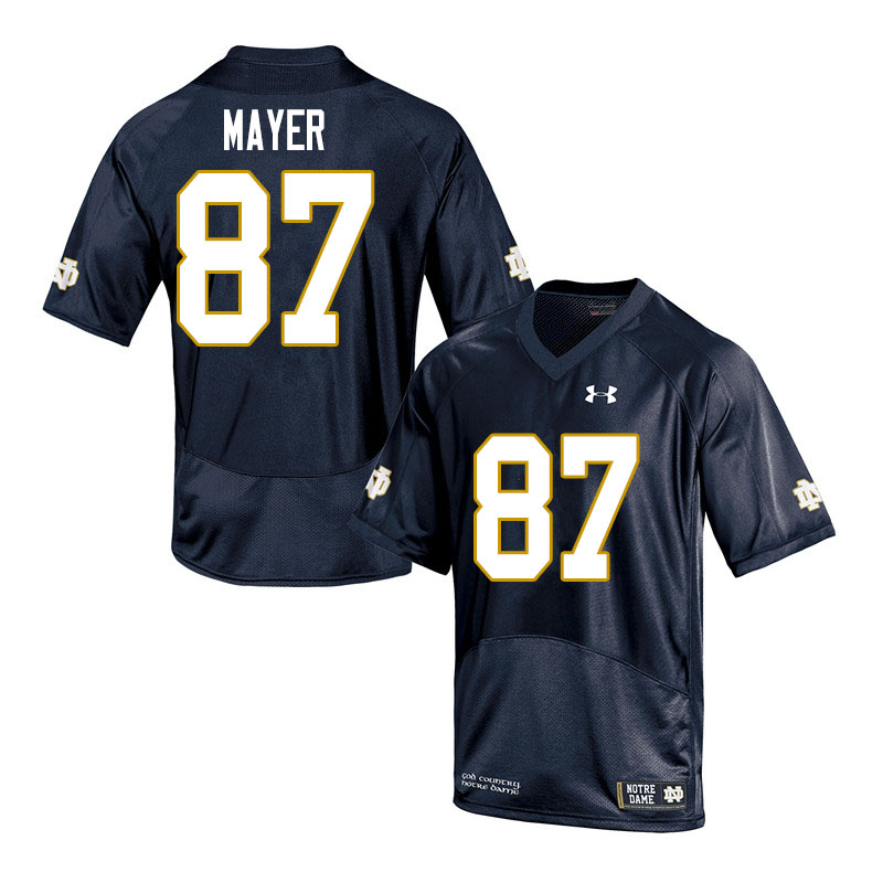 Men #87 Michael Mayer Notre Dame Fighting Irish College Football Jerseys Sale-Navy