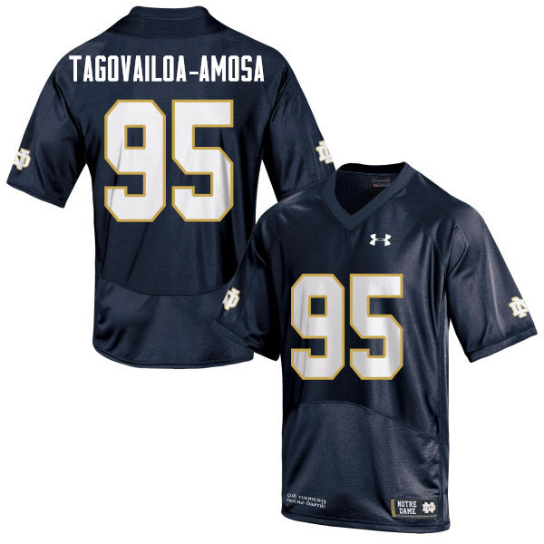 Men #95 Myron Tagovailoa-Amosa Notre Dame Fighting Irish College Football Jerseys Sale-Navy