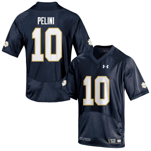 Men #10 Patrick Pelini Notre Dame Fighting Irish College Football Jerseys Sale-Navy