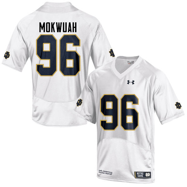 Men #96 Pete Mokwuah Notre Dame Fighting Irish College Football Jerseys-White