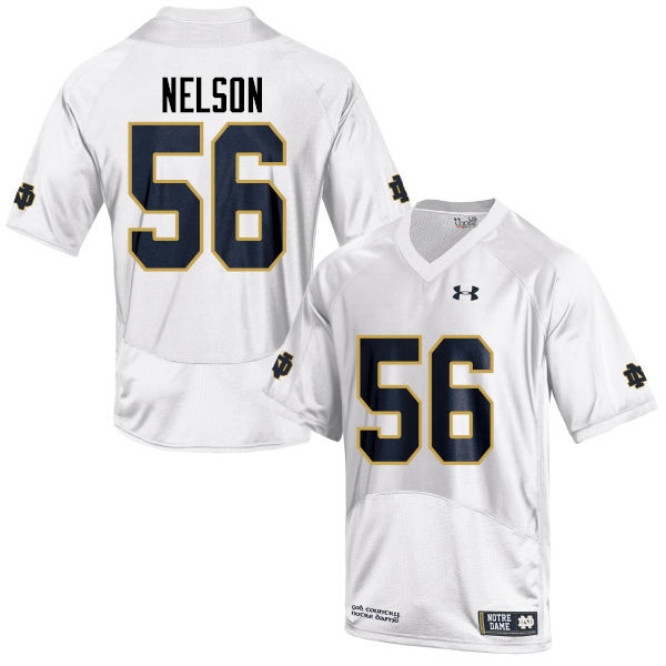 Men #56 Quenton Nelson Notre Dame Fighting Irish College Football Jerseys-White