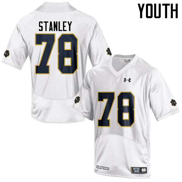 Youth #78 Ronnie Stanley Notre Dame Fighting Irish College Football Jerseys-White