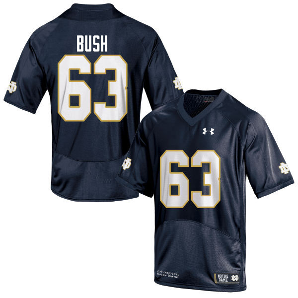 Men #63 Sam Bush Notre Dame Fighting Irish College Football Jerseys-Navy Blue