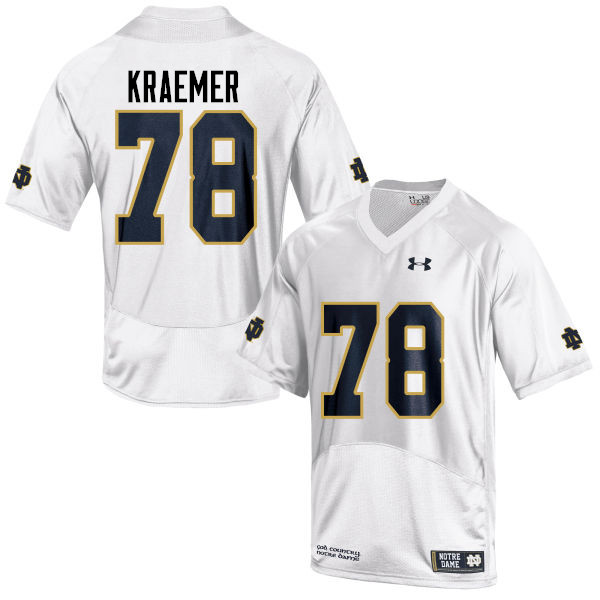 Men #78 Tommy Kraemer Notre Dame Fighting Irish College Football Jerseys-White
